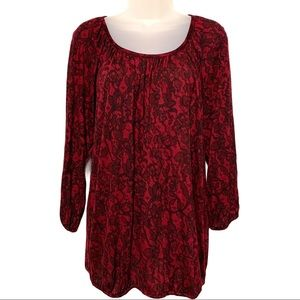 Michael Kors woman's blouse size small red wine